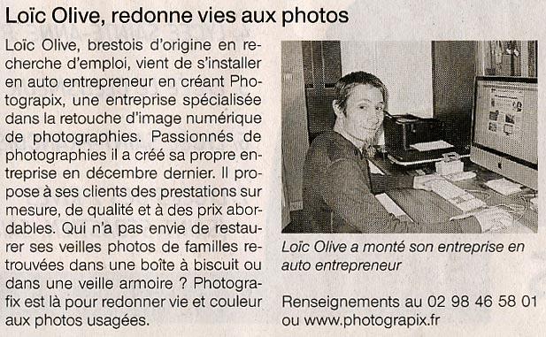 Numérisation, retouche et restauration de photo : on en parle dans le Ouest France