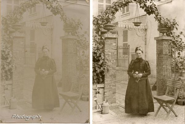 restauration d'une très vieille photo de 1850