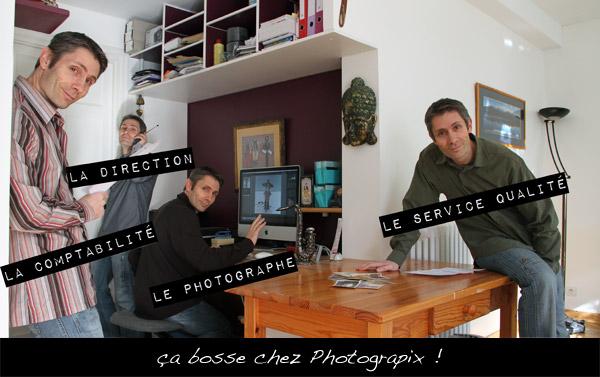 4 fois la même personne sur ce photomontage