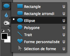 Outil Ellipse Photoshop Elements