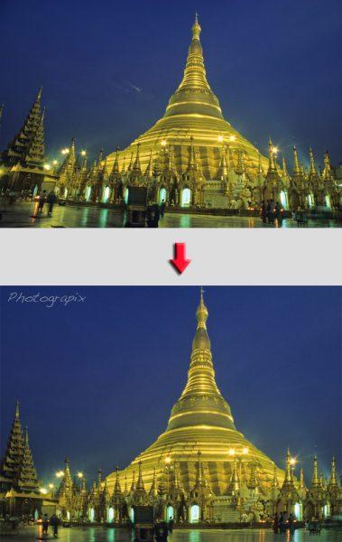 Correction de la perspective d'une photo