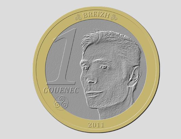 Pièce de monnaie crée sous Photoshop Elements