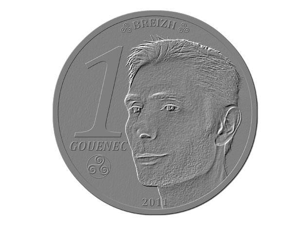 pièce de monnaie réalisée sous Photoshop Elements