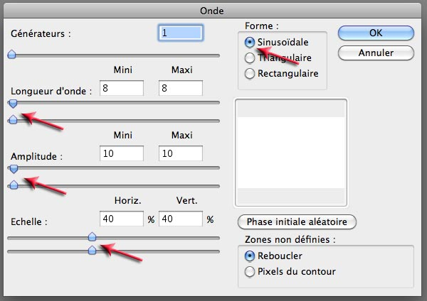 Filtre Onde Photoshop Elements