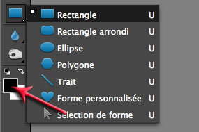 outil rectangle Photoshop Elements