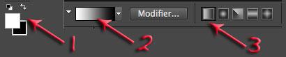 barre d'outils dégradé Photoshop Eléments