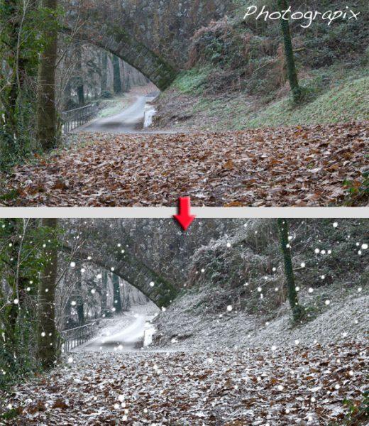 Création d'un paysage enneigé avec Photoshop Elements