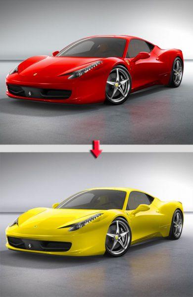Changement couleur Ferrari