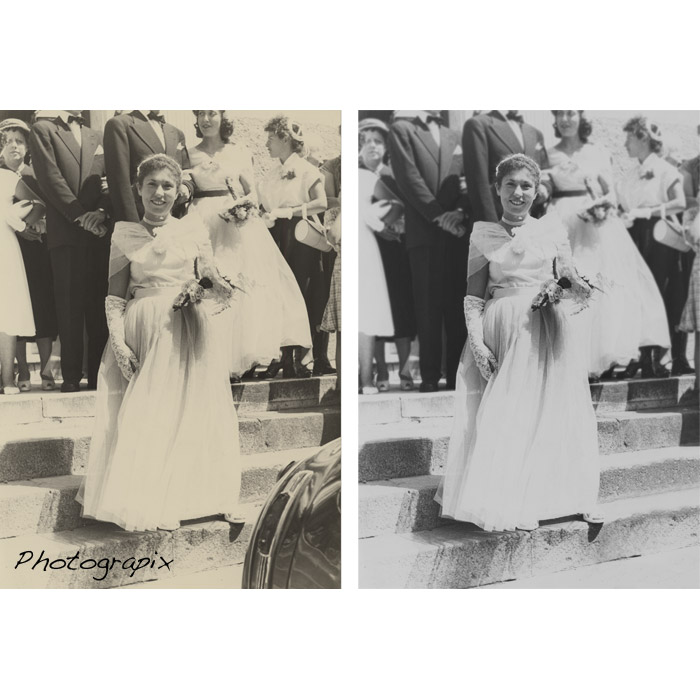 retouche photo de mariée