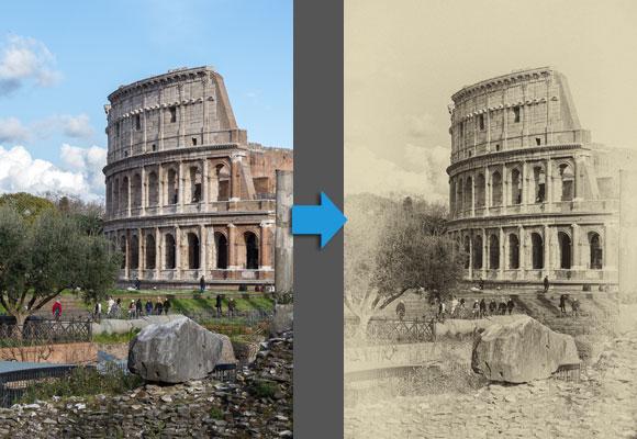 création photomontage vieillissement photo