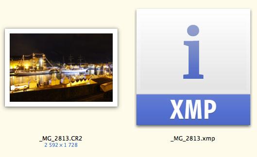 Fichier xmp