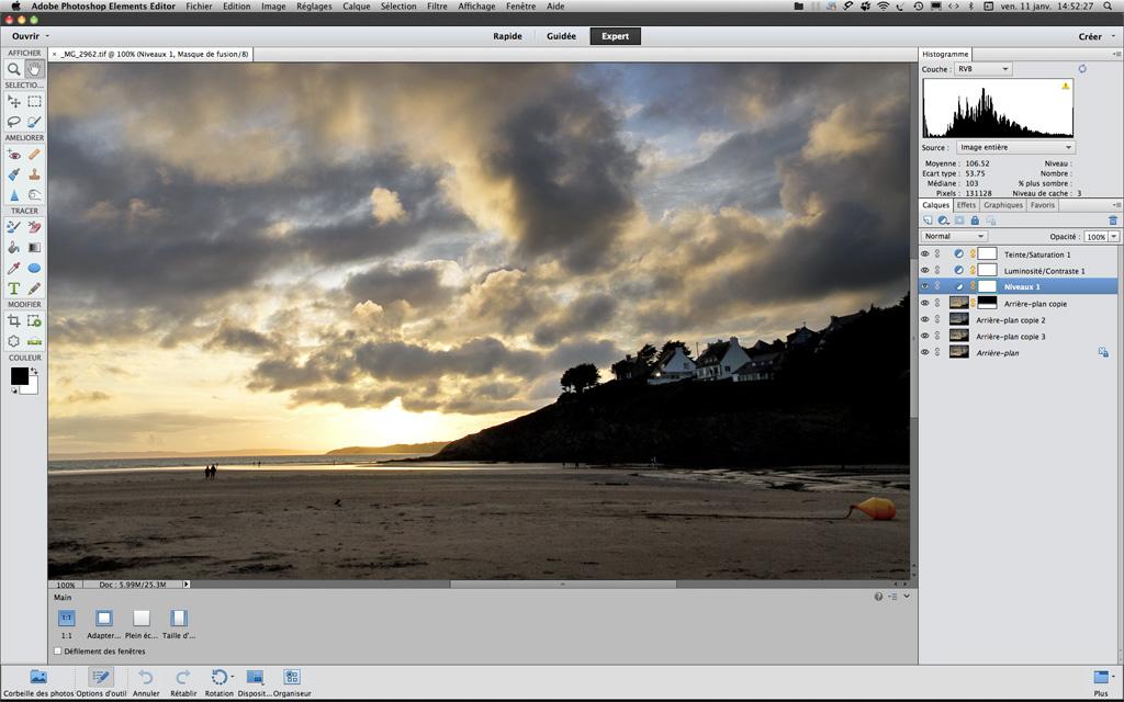 Présentation de Photoshop Elements 11
