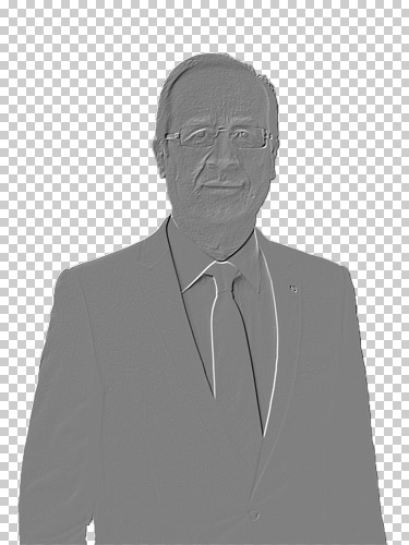 François Hollande après application du filtre Estompage