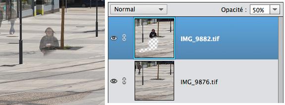 Fenêtre calque de Photoshop Elements