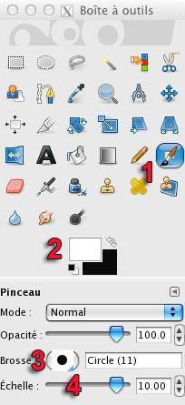 L'outil Pinceau Gimp