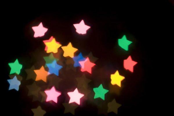 bokeh étoiles