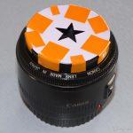 Objectif 55 mm + découpage étoile