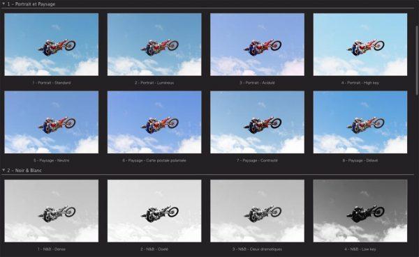 Autoréglages de DXO Optics Pro