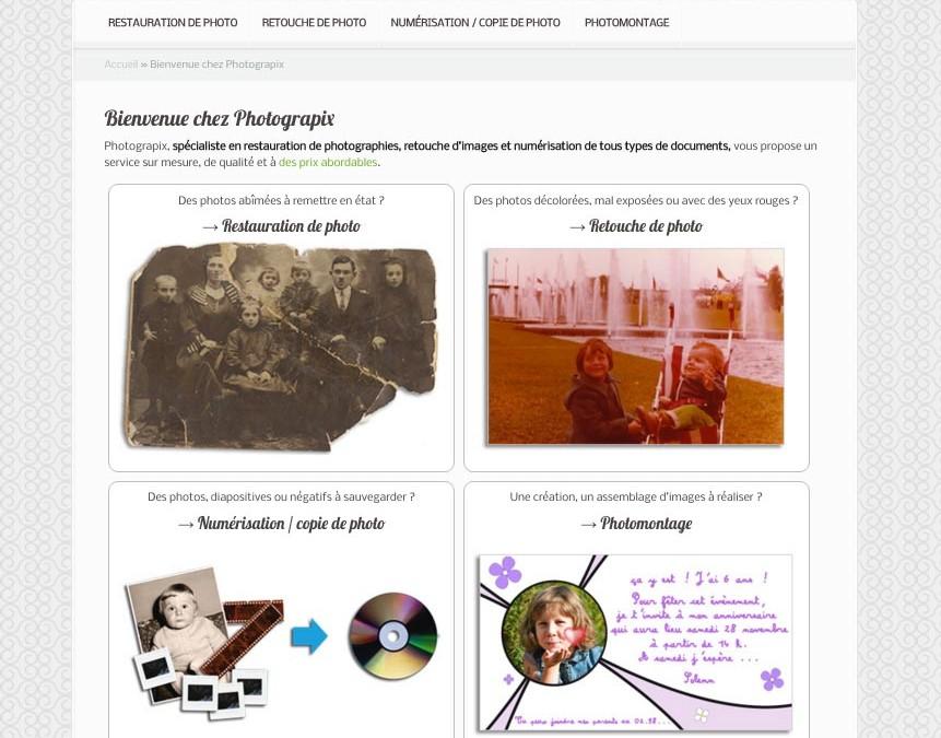 Refonte du site pour Photograpix