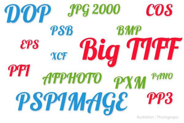 quelques extensions de fichiers image