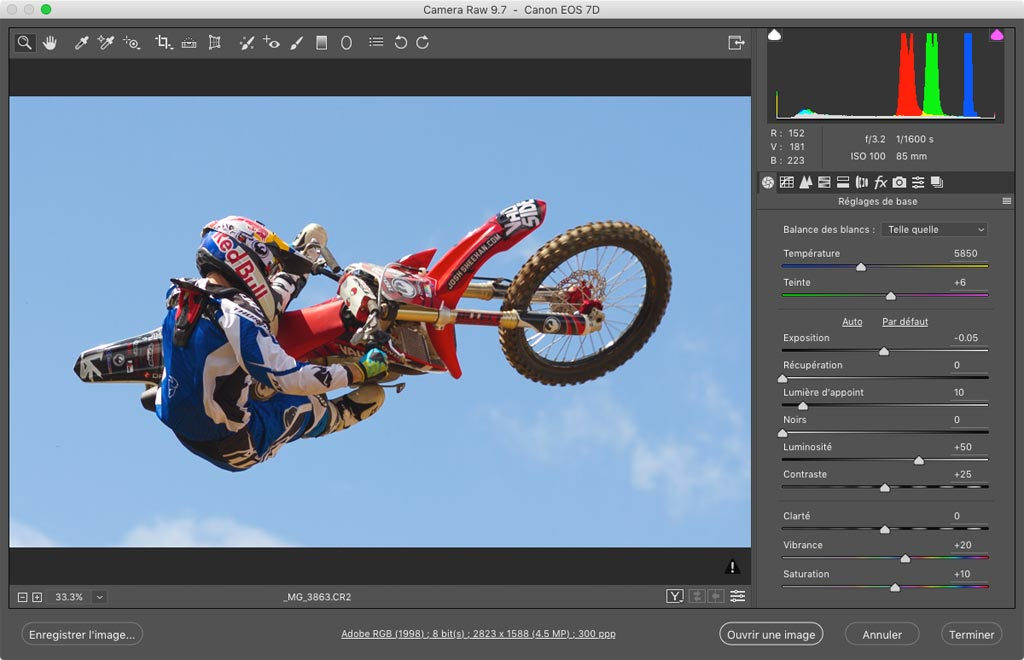 Camera Raw : le dérawtiseur d'Adobe