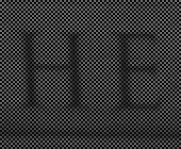 L'image telle que vue par les photosites sensibles au vert