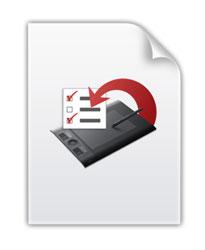 Le fichier .wacompref contenant les réglages personnalisés de la tablette