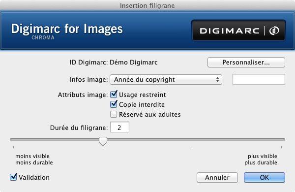 Filtre Digimarc