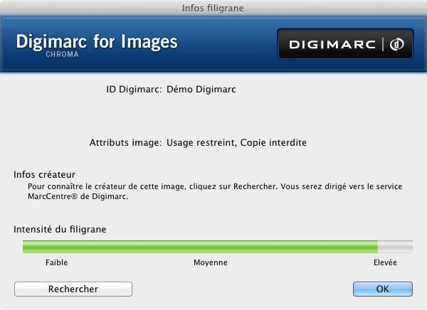 Lecture Filtre Digimarc