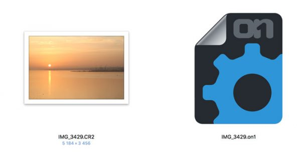 les retouches apportées à l'image sont stockées dans le petit fichier chariot annexé à l'image.